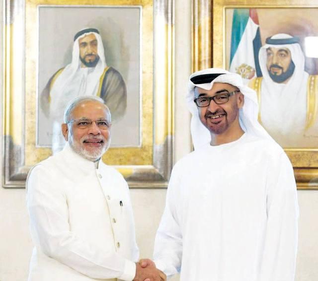 صاحب السمو الشيخ محمد بن زايد آل نهيان ورئيس وزراء الهند