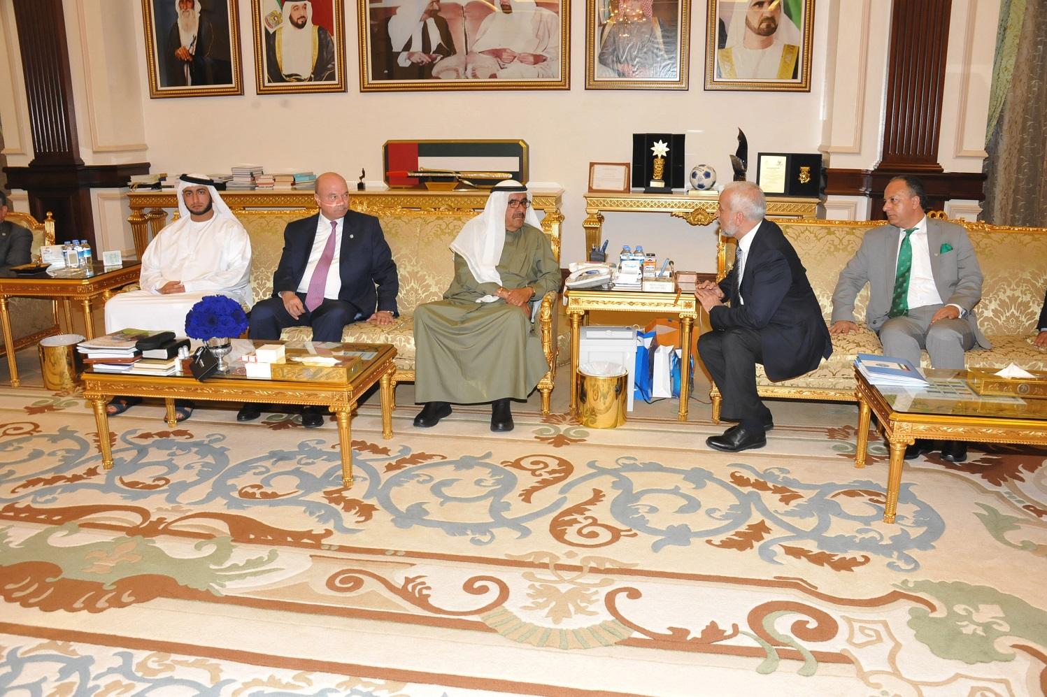 الأمير حمدان بن راشد يستقبل رئيس مجلسالأعيانالأردني