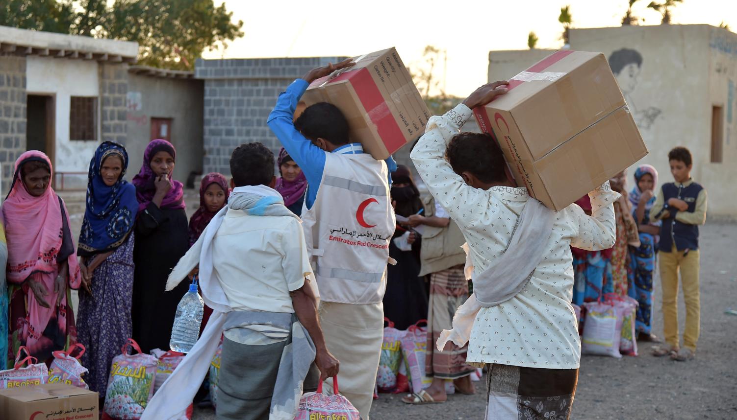 العمل الانسانى فى اليمن