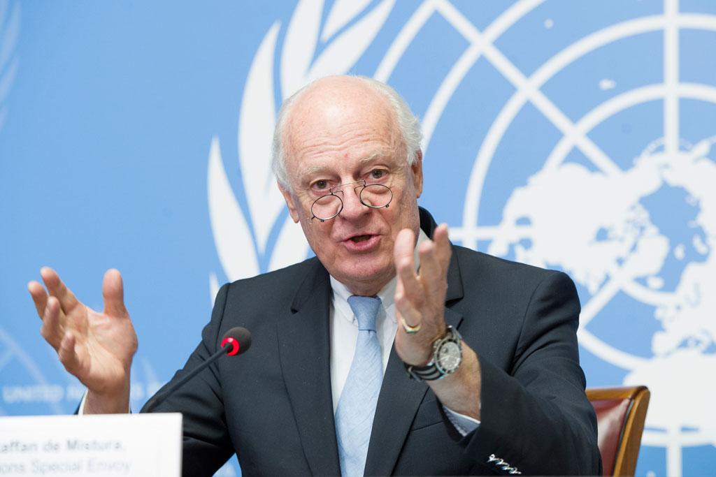 ستافان دي ميستورا مبعوث الأمم المتحدة إ