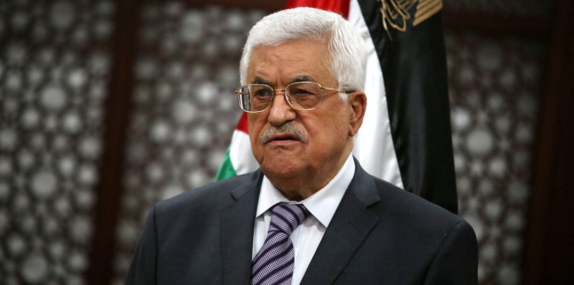 الرئيس الفلسطيني محمود عباس خلال اجتماع لمجلس الأمن التابع للأمم المتحدة في مقر الأمم المتحدة في نيويورك