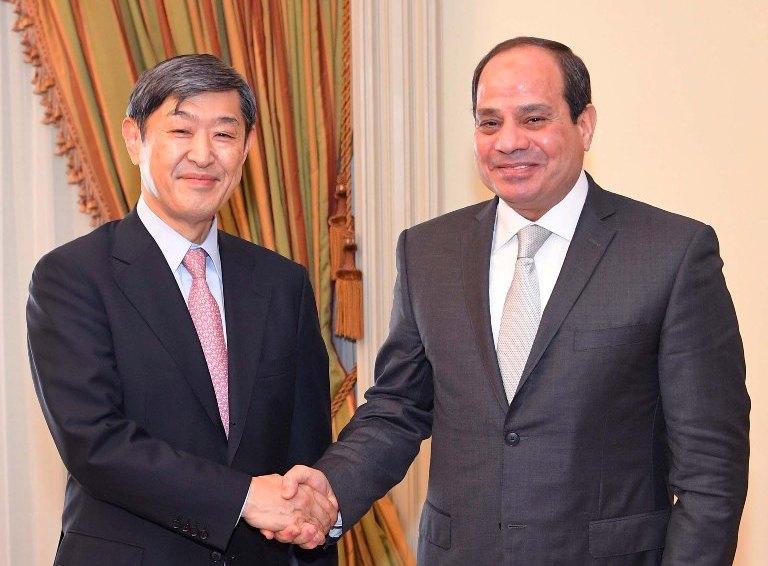 السيسي يستقبل رئيس الوكالة اليابانية للتعاون الدولي