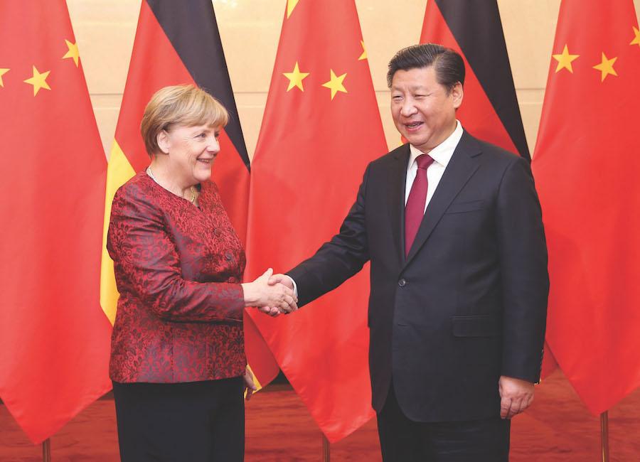 الرئيس الصينى تشى والمستشارة الألمانية ميركل