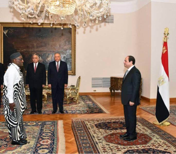 الرئيس المصري يتسلم أوراق اعتماد 11 سفيرا