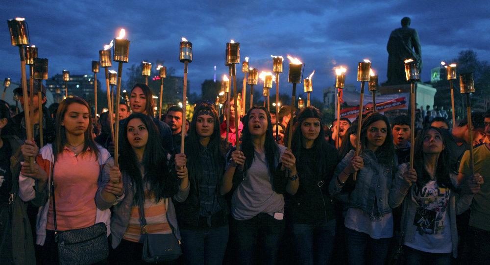 احتفال هولندا بذكرى مذبحة الارمن