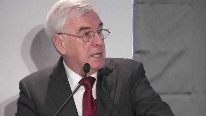 وزير الخزانة في حكومة الظل البريطانية جون ماكدونيل