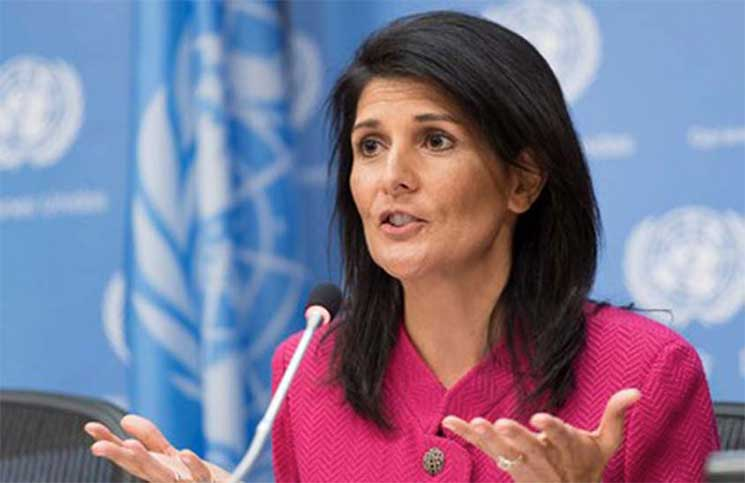 سفيرة الولايات المتحدة لدى الأمم المتحدة نيكي هيلي
