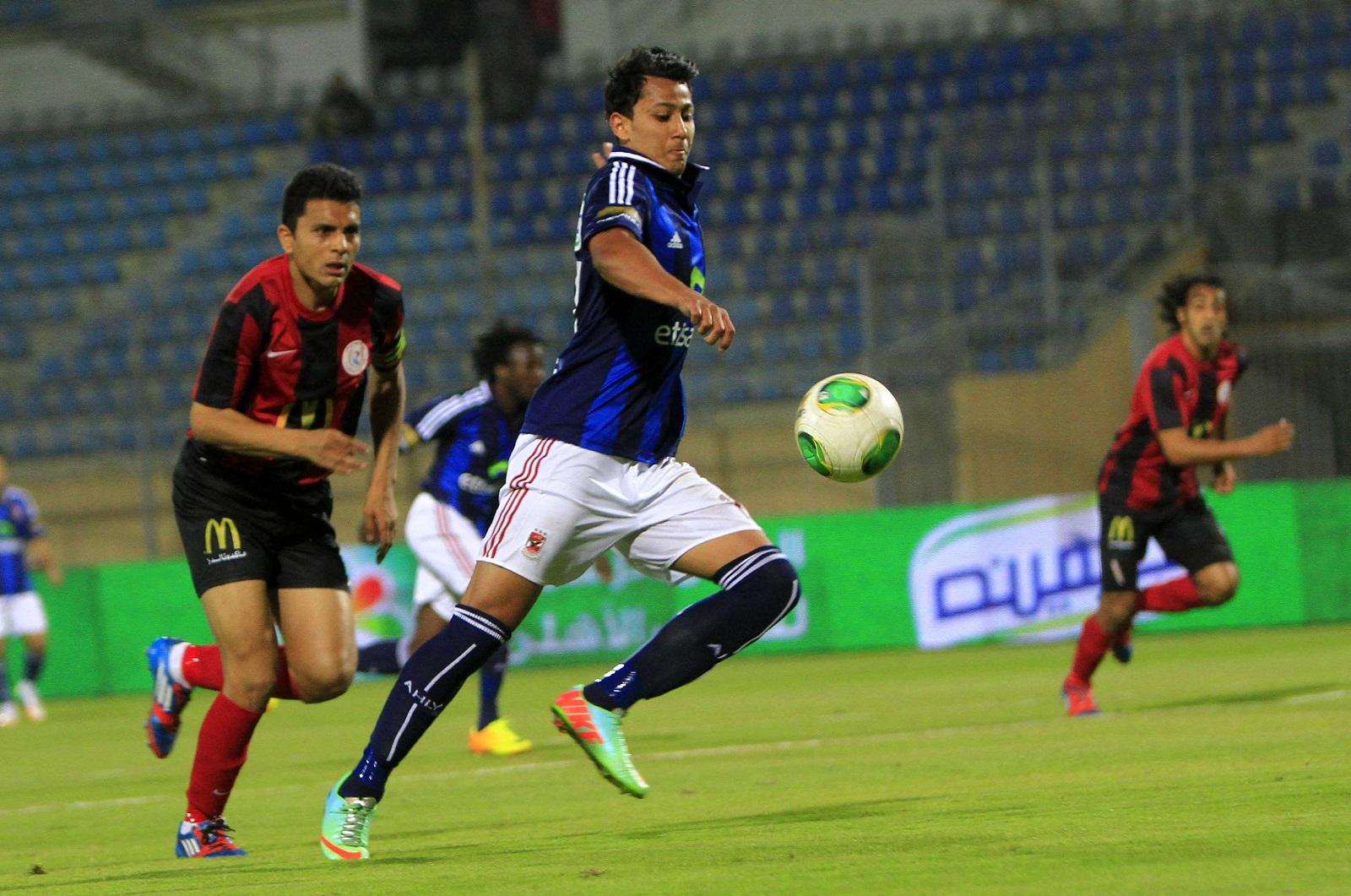 جانب من مباراة سابقة بين الأهلي والداخلية في الدوري المصري