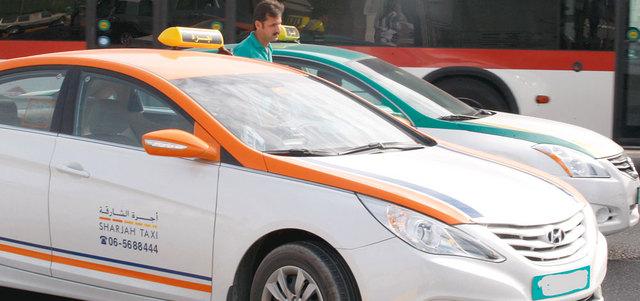 مركبات الأجرة فى الشارقة