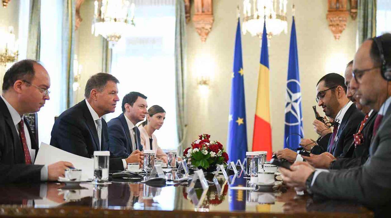 رئيس رومانيا يستقبل وفد الدولة المشارك في الاجتماع الأول للجنة المشتركة بين البلدين
