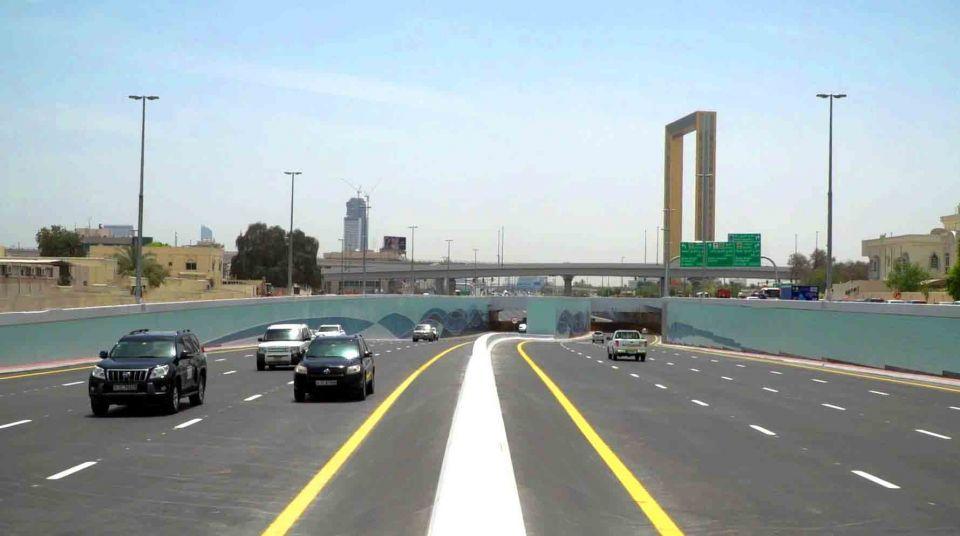 افتتاح نفق على شارع الشيخ راشد بدبي