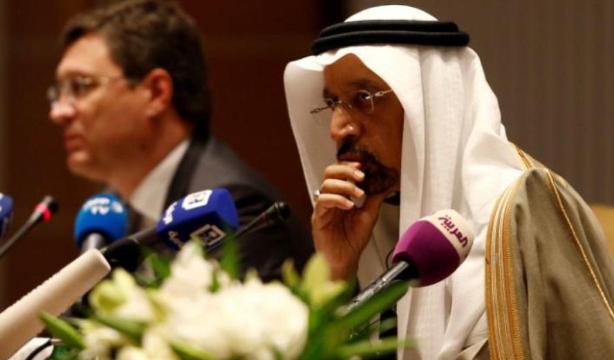 خالد الفالح وبجانبه وزير الطاقة الروسي ألكسندر نوفاك