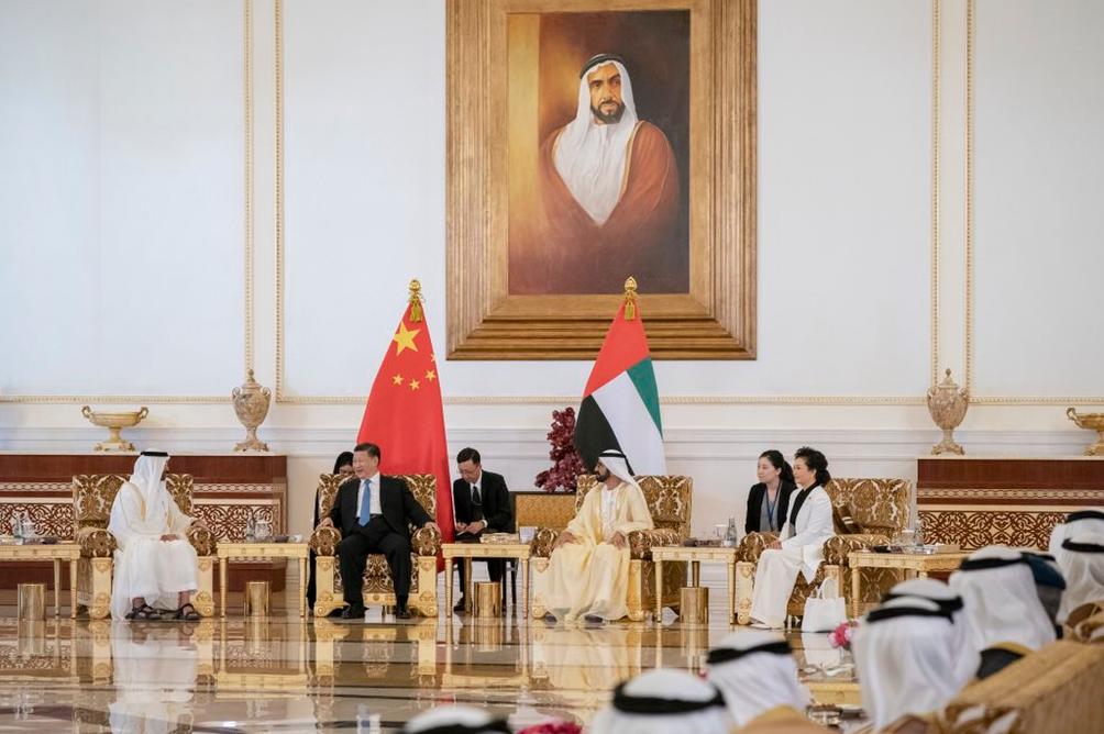 استقبال الرئيس الصيني في الإمارات