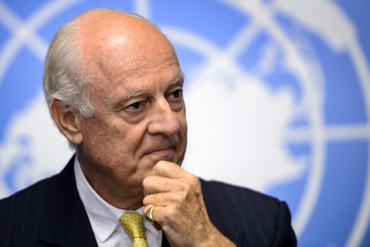 ستيفان دي مستورا مبعوث الأمم المتحدة الخاص لسورية
