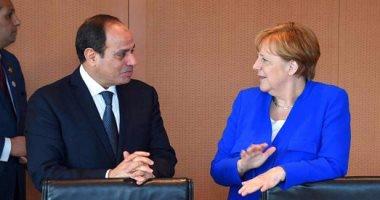 الرئيس السيسي والمستشارة الألمانية - صورة أرشيفية