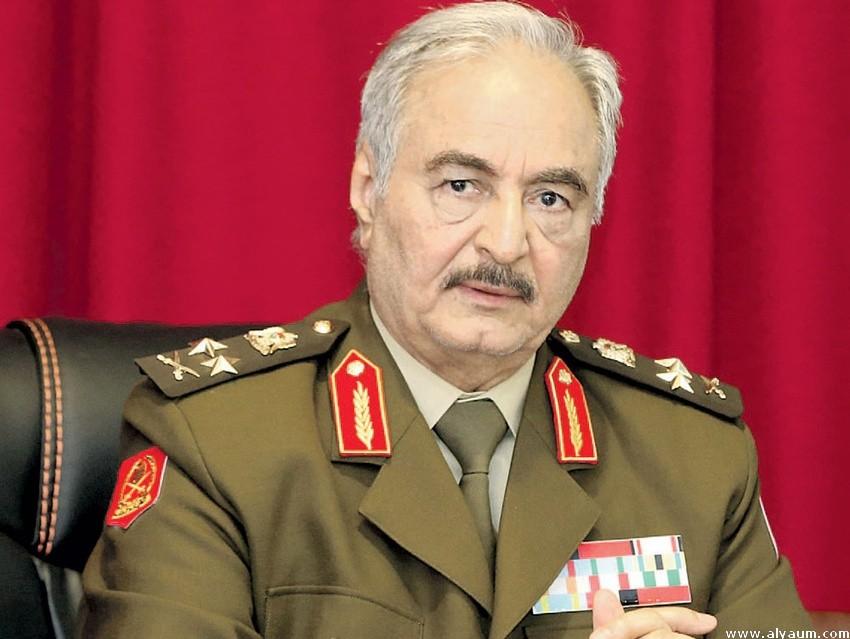 المشير خليفة حفتر قائد الجيش الليبي
