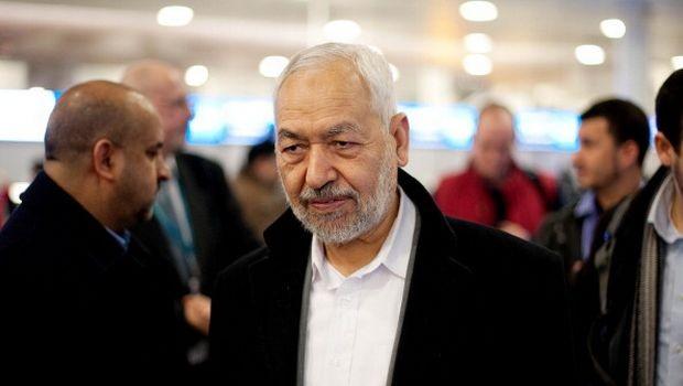 راشد الغنوشي زعيم حركة النهضة التايعة لتنظيم الإخوان الإرهابي