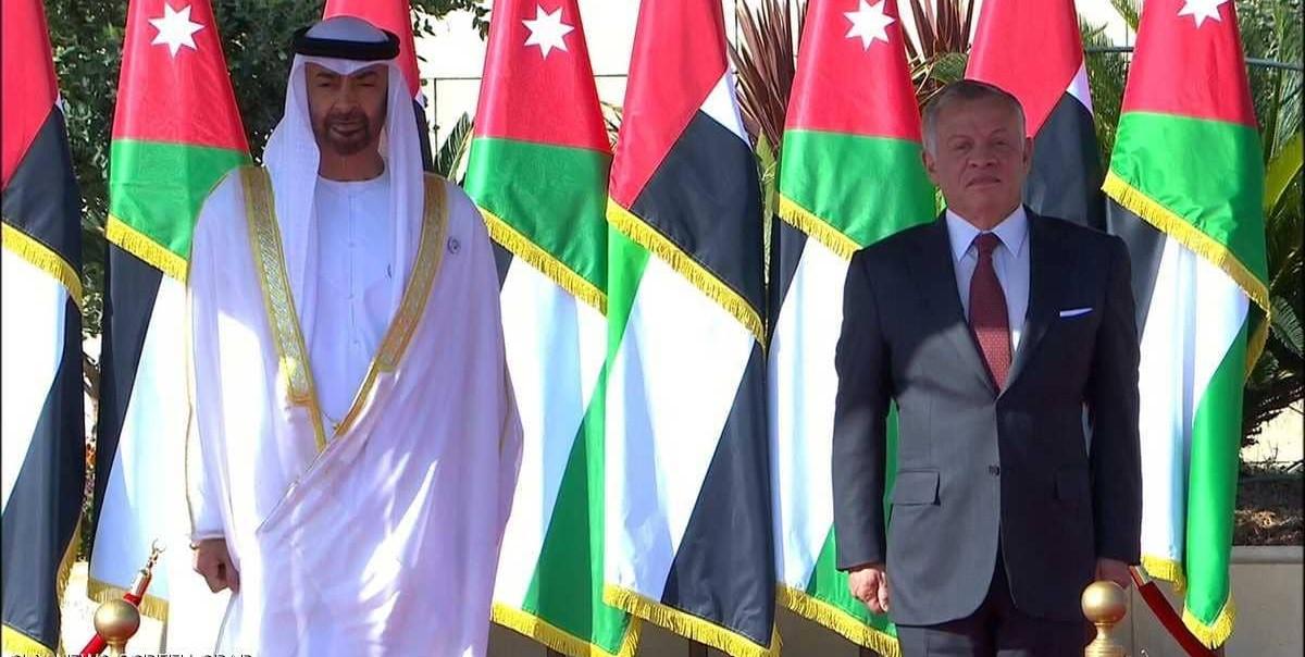عبدالله الثاني يستقبل محمد بن زايد