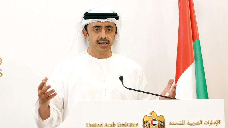 عبدالله بن زايد يستقبل رئيس البرلمان الأفريقي