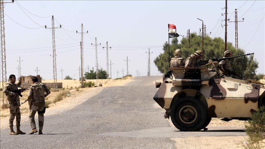 عناصر من قوات الجيش المصري بسيناء