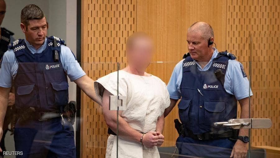 إرهابى نيوزيلندا خلال محاكمته