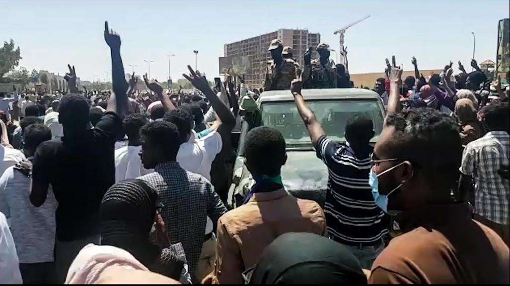 جانب من الحراك  السوداني (أرشيفية)