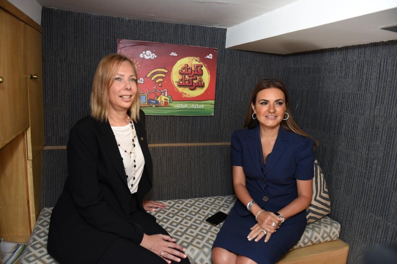وزيرة الاستثمار المصرية مع رئيس البنك الافريقي للتنمية