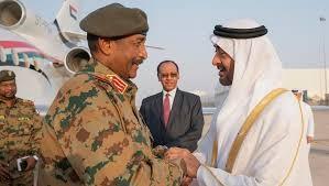 ولي عهد أبو ظبي ورئيس المجلس السيادي بالسودان