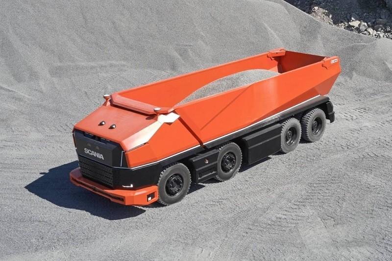 شاحنة سكانيا AXL ذاتية القيادة