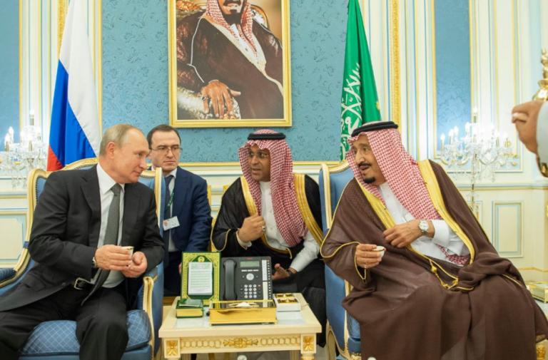 الملك سلمان و الرئيس الروسي