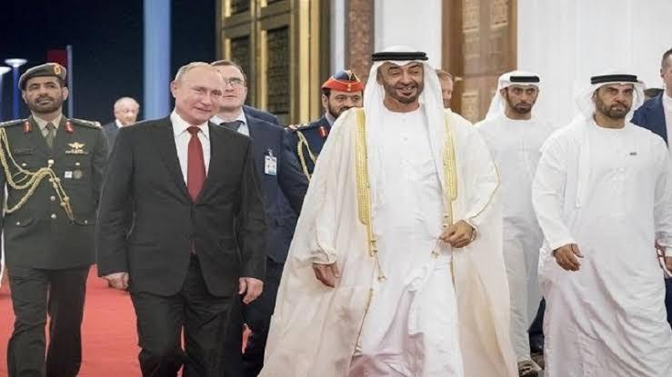 محمد بن زايد و الرئيس الروسي