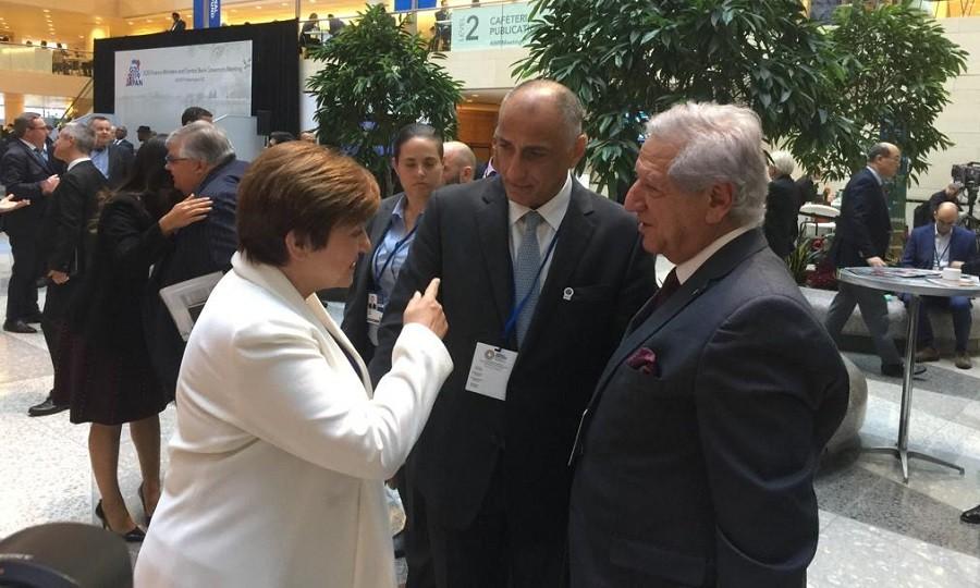 طارق عامر ومدير صندوق النقد الدولي الجديد