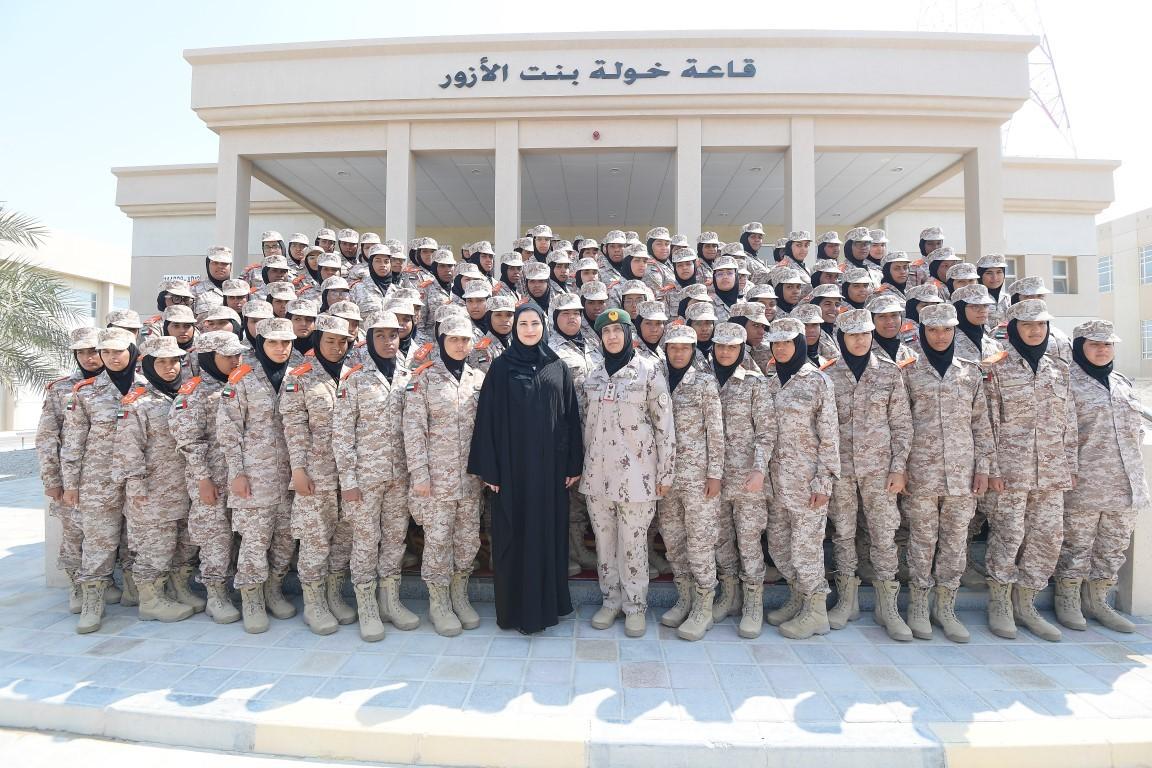 سارة الاميري ومجندات الدفعة الثامنة