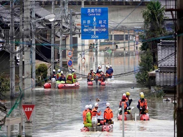 امطار غزيرة باليابان