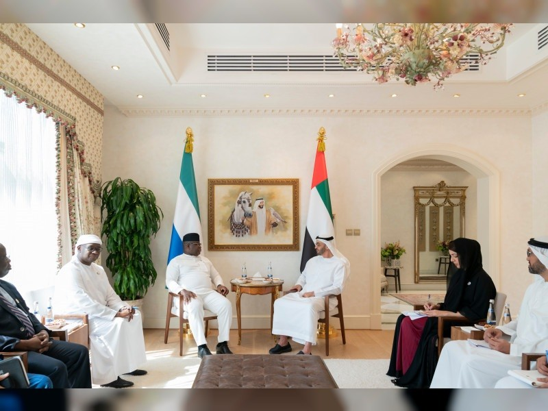 سمو الشيخ محمد بن زايد ورئيس سيراليون