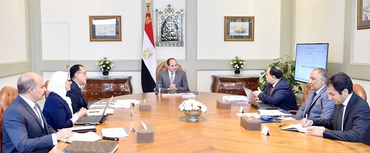 الرئيس السيسي ومجموعة من وزراء مصر