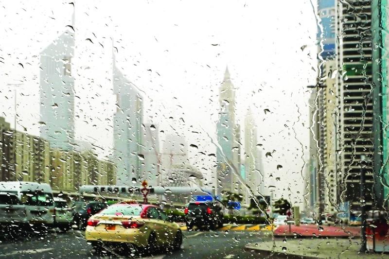 سقوط الامطار