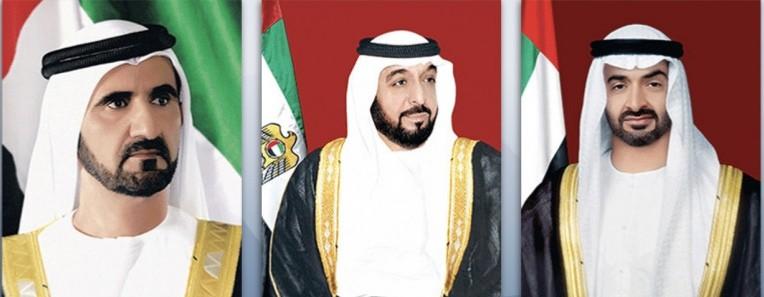 رئيس الدولة ونائبه ومحمد بن زايد
