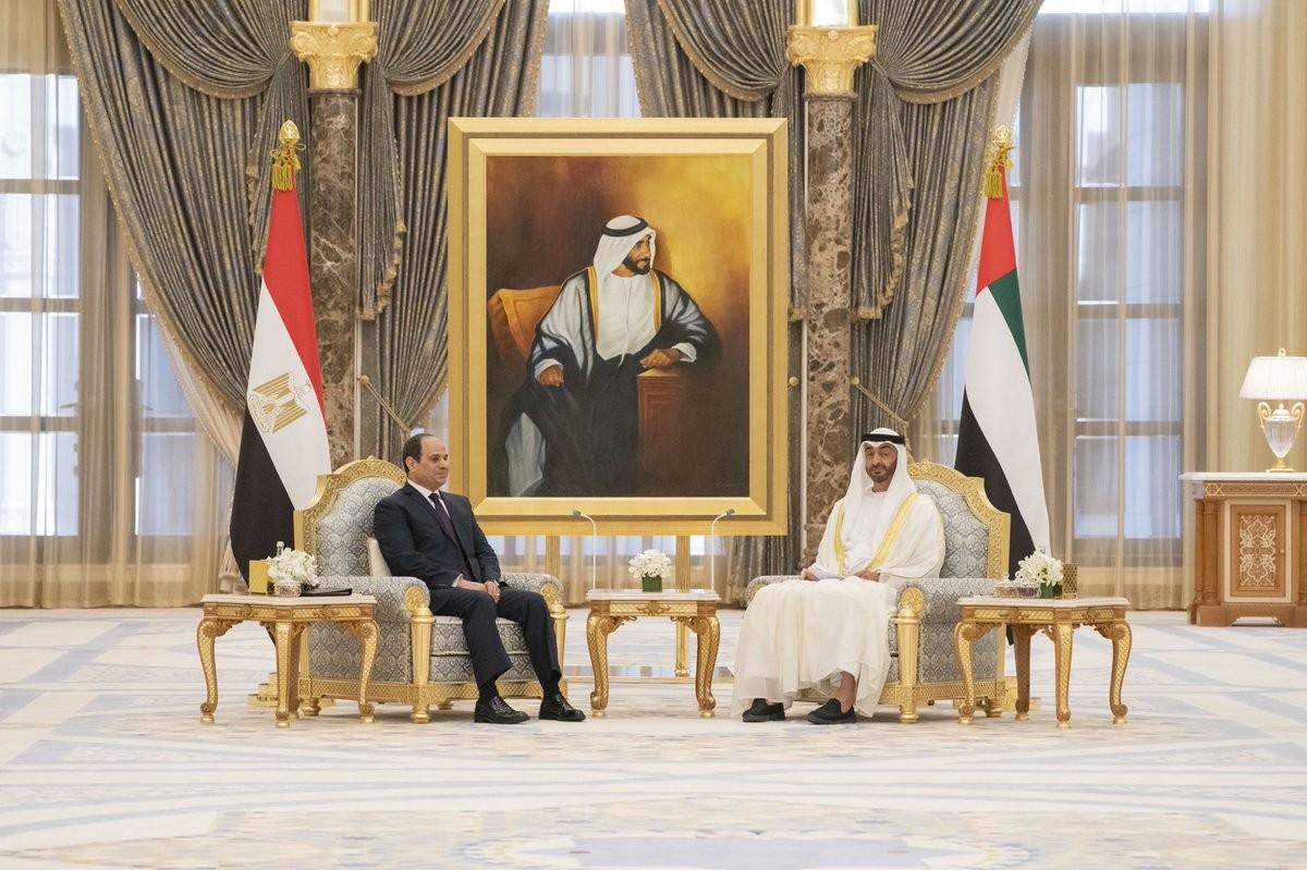 الشيخ محمد بن زايد والرئيس السيسي