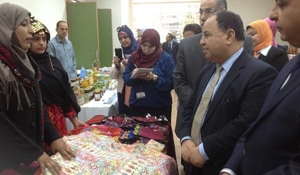 وزير المالية المصري ومعرض التراث والحرف اليديوية