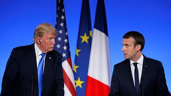 دونالد ترامب وإيمانويل ماكرون