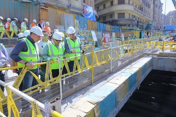 اعمال الحفر لمحطات مترو الأنفاق