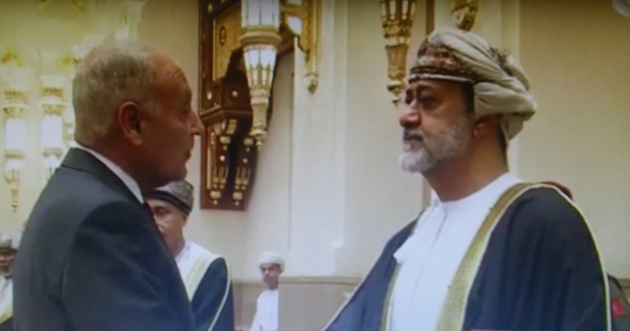 احمد ابو الغيط  وسلطان عُمان