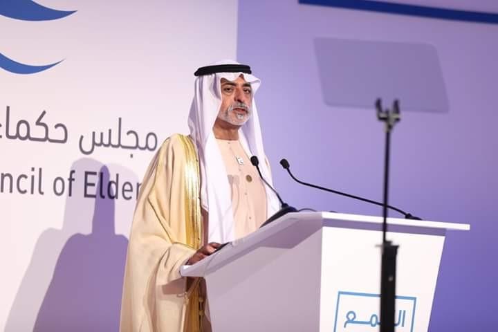 الشيخ نهيان بن مبارك آل نهيان في التجمع الإعلامي العربي