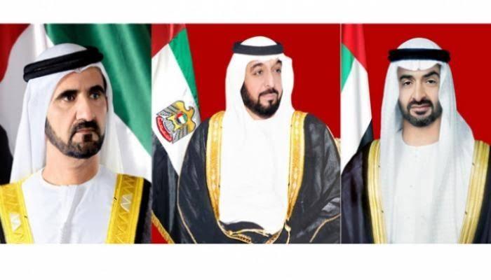 رئيس الإمارات ونائبه وبن زايد