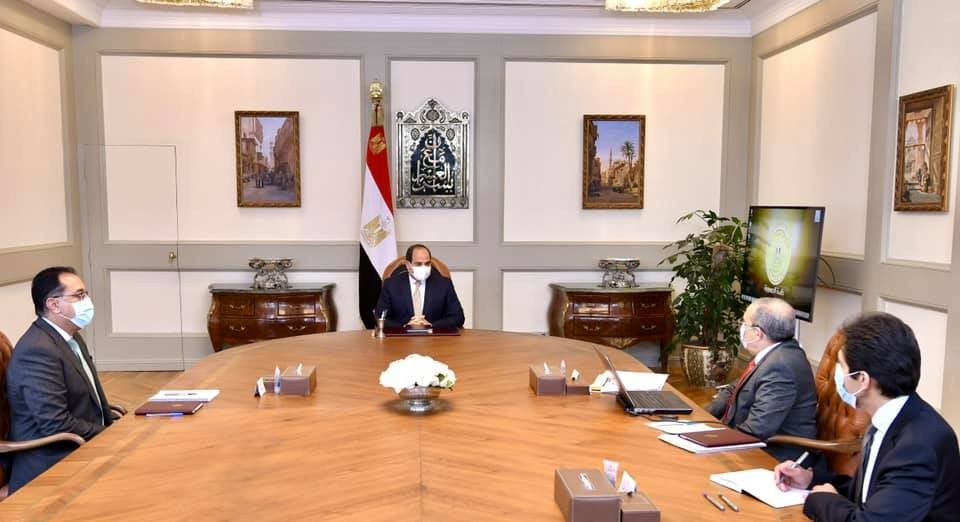 مصر ـ الرئيس السيسي خلال اجتماعه برئيس الوزراء ووزير الإنتاج الحربي