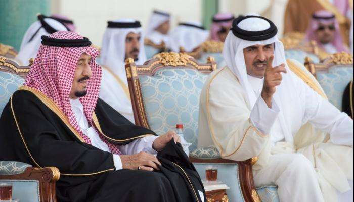 تميم بن حمد والملك سلمان