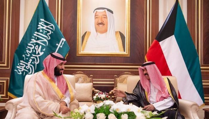 أمير الكويت ومحمد بن سلمان
