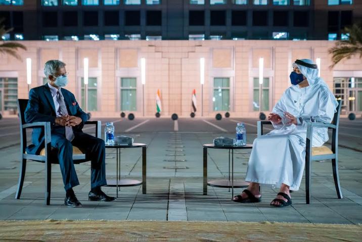 وزيرا الخارجية الإماراتي والهندي