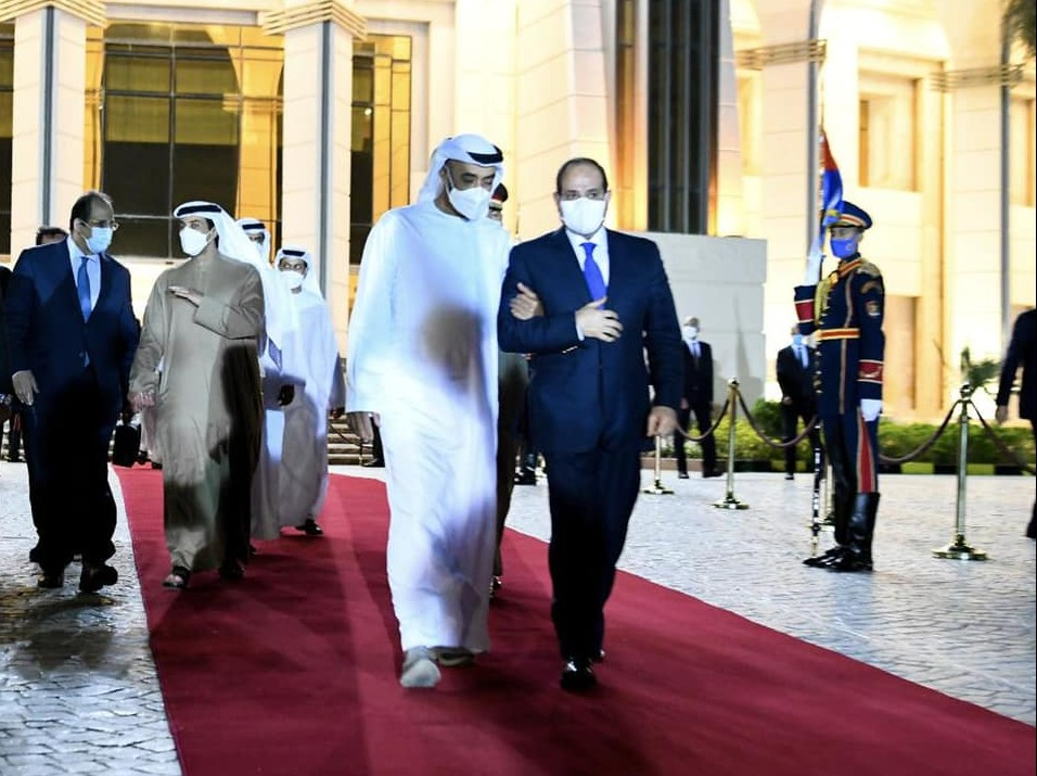 زيارة بن زايد إلى مصر